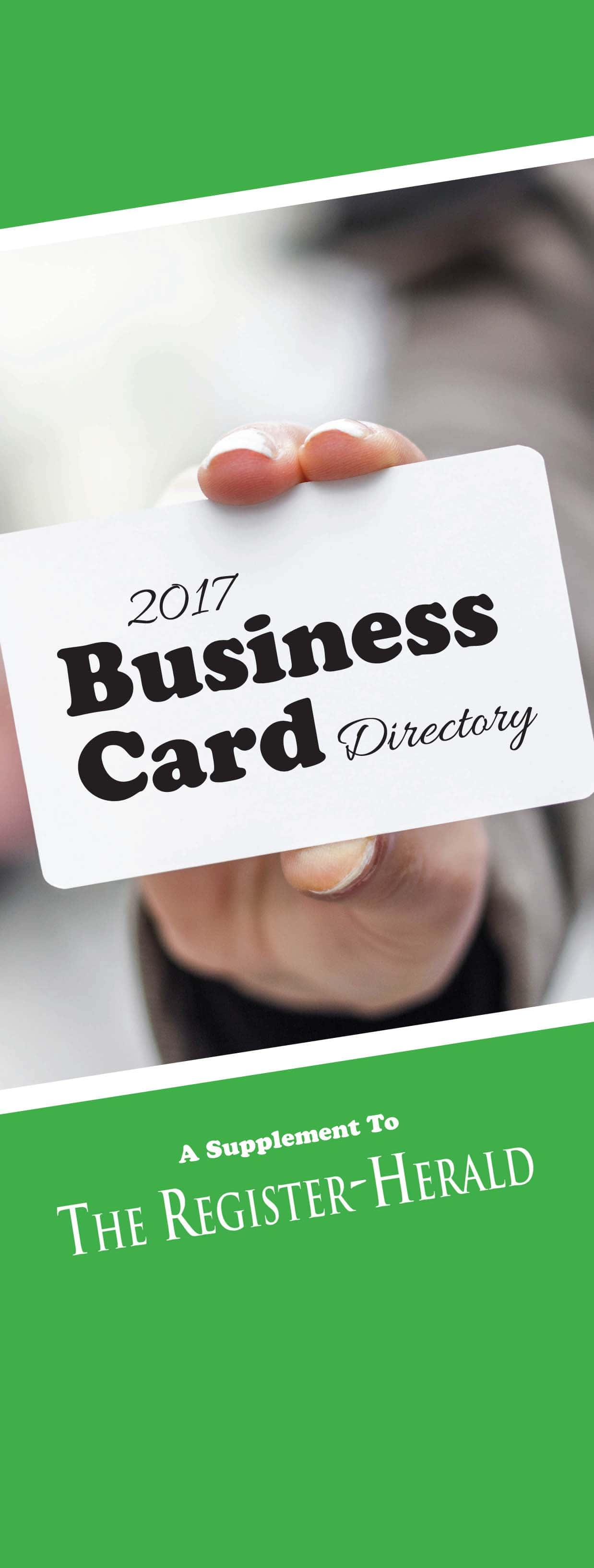 Business card directory 2017 register herald business card directory 2017 reheart Images