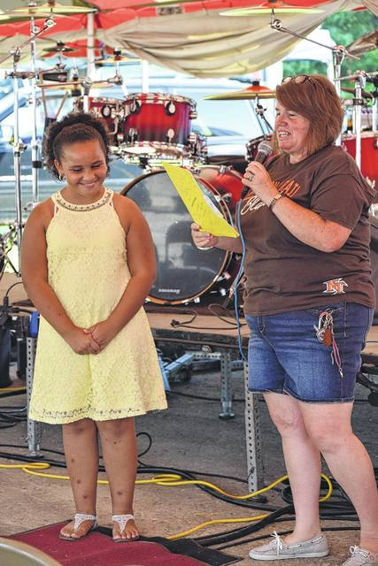 Leah Frazier was crowed Apple Fest Princess. Frazier is 11 years old and attends National Trail Middle School.