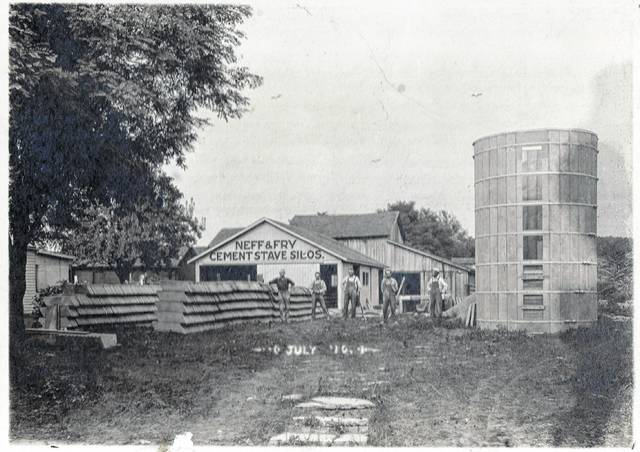 Original photo of the Neff and Fry building.