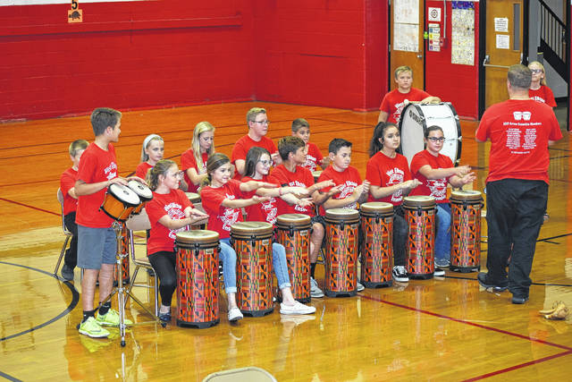 The Arrow Ensemble performed during the Preble Shawnee Board of Education meeting on Thursday, Oct. 12. They were selected to perform at the Ohio Music Educators Association Conference in February. The Board presented every member with a certificate of recognition. Members include: Lizzie Meadors, Reece Smith, Brody Lynch, Daulton Mitchell, Zack Miller, Eleanor Tousignaut, Garrett Campbell, Jolene Bendel, Dariann Willoughby, Natalie Young, Samantha Lambert, Jadyn Schneider, Bethany Deaton, Dylan Campbell, Sofia Leeth, Rebecca Frieszell, Boone Brandenburg, Grady Hutchinson, and Kayla Chappell.