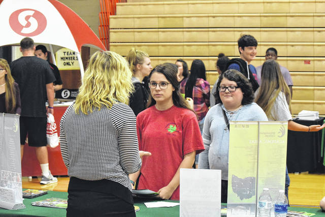 National Trail's annual student college and career fair was a success. The event was held on Thursday, Oct. 5 and gave local seniors (and all NT high school students) the opportunity to talk with leaders in their chosen fields and make connections with local schools, businesses, or military representatives.