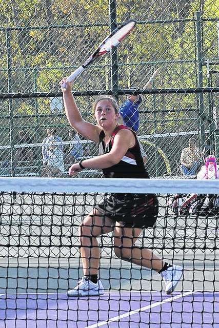 Preble Shawnee's Ashlyn Hubbard placed third at the Centerville Division II sectional tennis tournament on Saturday, Oct. 7, to advance to this week's district tournament.