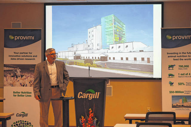 The Village of Lewisburg will be welcoming a new non-medicated feed manufacturing plant in the Spring of 2019. Cargill and Provimi held a ground breaking ceremony on Wednesday, Nov. 8, where they shared information on the anticipated plant.