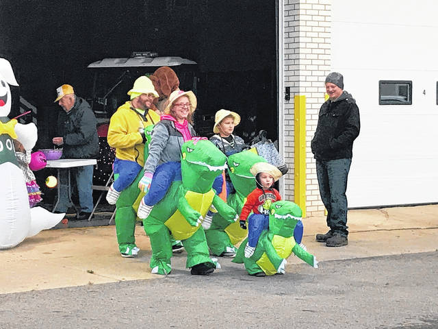 Families turned out in droves on Halloween night, Tuesday, Oct. 31, for trick and treats alike. Preble Countians donned their best dinosaur suits, vampire fangs, and witches hats to walk the crisp night for candy. While most Preble County communities held their Beggars' Night activities on Halloween itself, Lakengren, West Elkton, and West Manchester chose other dates for their boys and ghouls to come out for treats. No matter what day the family-favorite activity was held, it continued to provide fun and scares for the entire family. Pictured, families also visited Eaton Fire Station No. 1 for lots of candy.