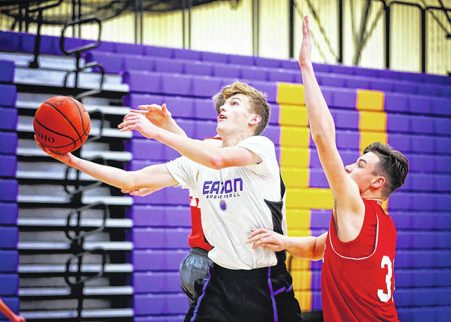 Eaton senior Grant Sullender is a 6 foot, 3 inch wing player, who Eaton coach Alex Prater said he expects to be the team's best player and team leader.