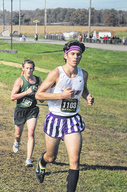 Eaton senior Steven Cottle wrapped up his career with a 168th place finish in 18:52.5 at the state cross country meet on Saturday, Nov. 4 at National Trail Raceway, in Hebron.