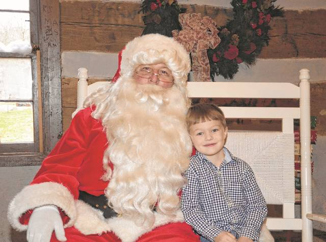 On Saturday, Dec. 2, visit with Santa, have some treats, and donate to the Kid for Kids Toy Drive, benefitting the Preble County Christmas for Kids Program. Kids of all ages are invited to share this special tradition of giving. Pictured is Caden Swihart at last year's event.