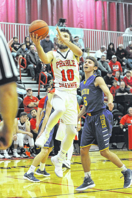 Levi Lewis scored 15 points to lead Preble Shawnee to a 67-36 win over Eaton on Tuesday, Dec. 5.
