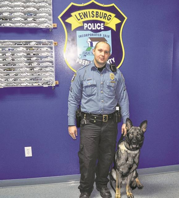 """Lewisburg Police Department Corporal Andrew Johnson and K9 Apollo are a team. They had to train together, live together, and eventually work together. Apollo did """"meet and greets"""" in the community last year until he finalized his certification."""