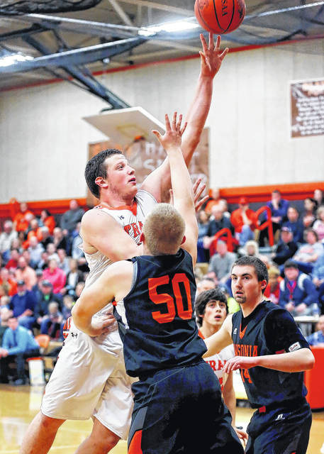 National Trail's Dalton Mason scored 11 points and had nine boards in the Blazers 52-48 loss to Ansonia on Friday, Jan. 19.