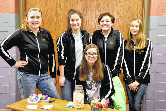 Five Eaton High Varsity Winterguard students were asked to assist with games and snacks. These students were happy to except the challenge. Those students were Captain Tatum Durbin, Emily Turner, Katelyn White, Olivia Wheeler, and Isabella Gaydosh-Bruce.