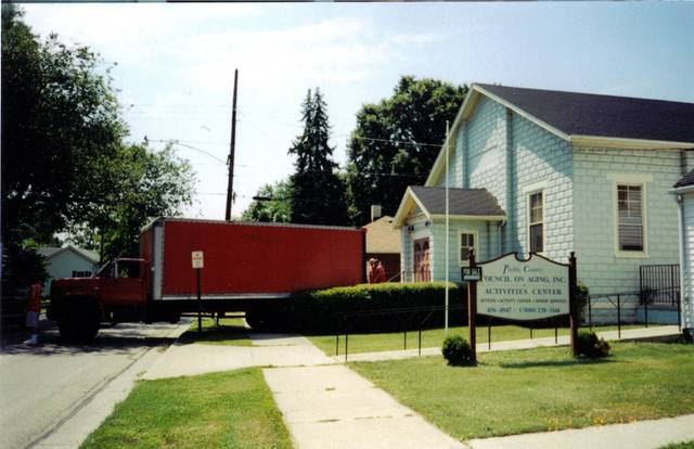 The Preble County Council on Aging has had several homes since its creation. In 1982 and 1983, property was purchased at 213 and 215 South Franklin Street and given to the agency by Mary and Wallace Campbell. The former church building was renovated and improved and used as a Multi-Purpose Senior Center. In November 1999, 28.6 acres of land was purchased for the new Senior Center facility and future program space. Construction began in the summer of 2000 and the agency took possession of the new Preble County Senior Activity Center at 800 East St. Clair Street in Eaton, on Aug. 10, 2001.