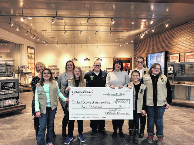 The Henny Penny Employee Foundation (HPEF) recently awarded a $5,000 grant to the Girl Scouts of Western Ohio.