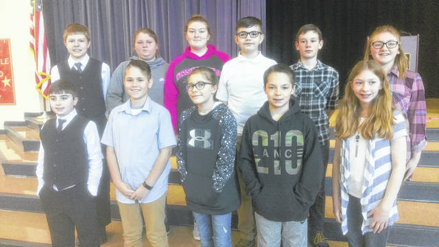 Congratulations to the Tri-County North Middle School students who competed in District 7 History Day Competition Saturday, March 10 in Piqua. They represented the district with honor and distinction. Seventh grade students were Devin Corrington, Blaine Miracle, Parker Williams, and Silas Wright. Sixth grade students were Carrie Baker, Jackson Browning, Emma Cole, Bailey Hemmelgarn, Joshua Hopkins, Lilli Toth, and Breanna Wagoner.