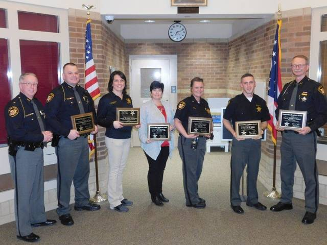 The 2017 Preble County Sheriff's Office Employees of the Year for 2017 included: Dep. Shane Hatfield Road Patrol/Investigations; Disp. Amber Taylor, 9-1-1 Communications; Kerrie Beachler, LPN Support Staff; Sgt. Jenifer Petitt Supervisor; Derek Taylor Corrections and Dep. Randy Tunnell, Special Deputy.