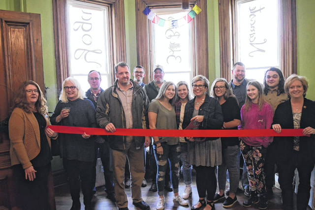 3 Little Birds Yoga & Wellness Center held its grand opening and ribbon cutting ceremony on Friday, March 16. The studio is owned by Misti Black and is located in a renovated home at 223 East Main Street in Eaton. Classes will begin after spring break on Monday, April 9.