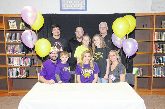 Saylor Jewell (front row, second from right) will continue playing soccer at the University of North Alabama next fall.