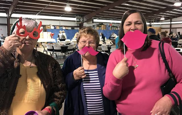 Carol Wright and friends enjoy fun at the Senior Activities Center.