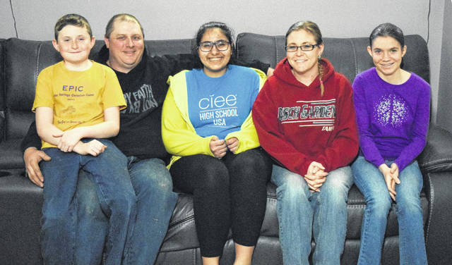 Clara Luis has been staying with Terry and Nichole Johnson through CIEE's USA High School program since August of 2017. She has been attending Preble Shawnee High School, where she even helped out with the recent spring play. Luis will leave her host family in June, when she will travel back to her home in Cairo, Egypt.