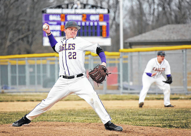 Brandon Miller will be counted on this year to help Eaton's baseball team. The Eagles began the season with a 16-6 win over Bellbrook on Monday, March 26.