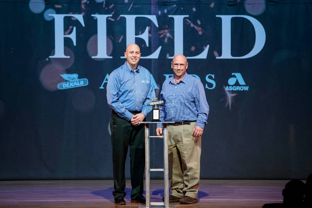 Monsanto honored Don Jackson of Camden, who captured a first place state yield award in the 2017 National Corn Growers Association (NCGA) National Corn Yield Contest at Commodity Classic, on Monday, Feb. 26, in Anaheim, California. (Photo by Whitney Curtis for Monsanto.)