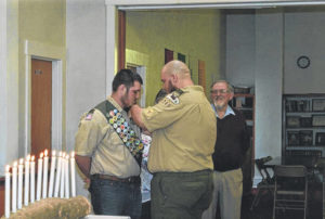 Harrison receives Eagle Scout pin
