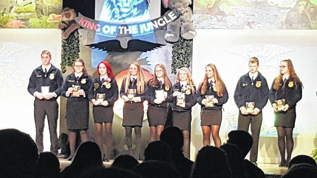 National Trail Miami Valley Career Technical Center FFA Chapter held their annual Banquet on Saturday, April 21. The event gave students an opportunity to be recognized for their achievements over the year and allowed them to say goodbye to the seniors that will be graduating in May.
