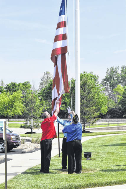 Bullen Ultrasonics held its annual flag raising ceremony on Monday, May 21, in recognition of Memorial Day and those who have died in service.