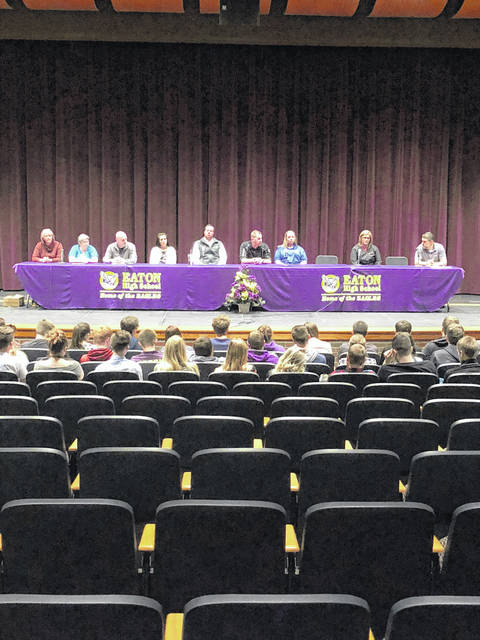 On April 12-13, members of the Preble County Development Partnership and Preble County Workforce Development Committee traveled to the five area Preble County high schools to present a panel discussion to upcoming graduates. The panel was made up of members from Cargill, Ohio Job and Family Services, Reid Health, Neaton, TimkenSteel, Pratt Industries, Henny Penny Corporation and Lawn Plus.