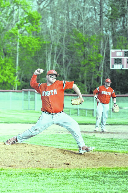 Tri-County North's Chandler Sproles tossed his first career no-hitter to lead the Panthers to a 17-0 win over Cedarville in the second round of the Division IV sectional tournament on Wednesday, May 9. With the win, North advances to the sectional final to play Tri-Village.