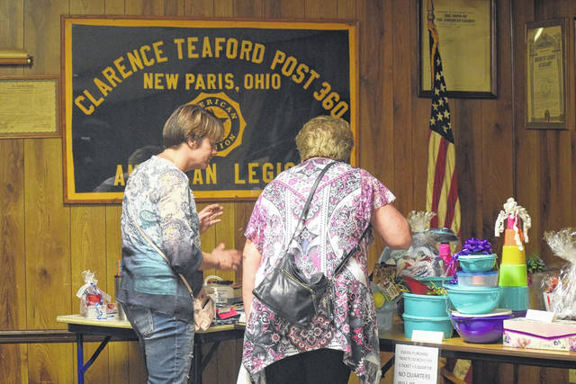A quarter auctionwas held at New Paris American Legion Post 360 on Thursday, June 28, to benefit Preble County food banks. Proceeds from the auction will be split between the New Paris food bank and the Eaton food bank.