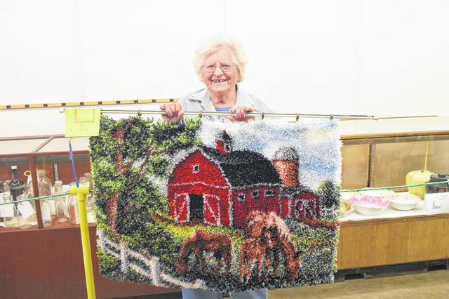 At the age of 91, Violet Farmer was the oldest exhibitor at the Famous Preble County Fair this year. Farmer has been exhibiting at the fair the past 73 years.