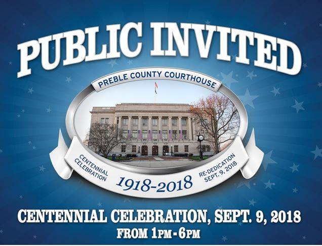 A special ceremony and event will be held in honor of the Preble County Courthouse's Bicentennial this September.